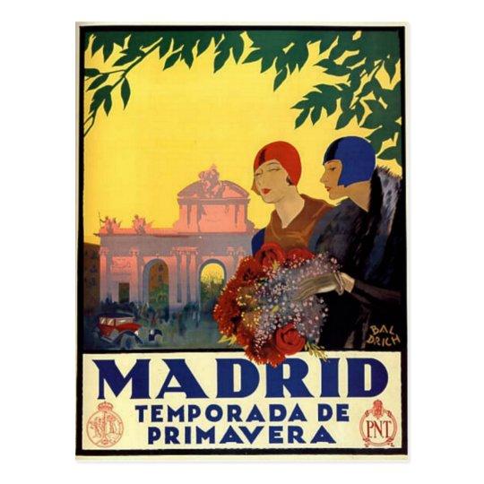 Madrid Temporada de Primavera - Vintage Art Poster