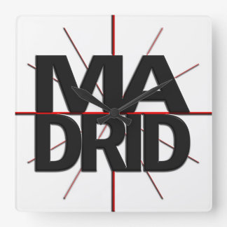 Madrid Timezone Wall Clock