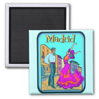 Madrid Travel Poster Magnet