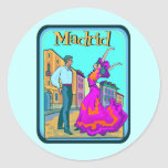 Madrid Travel Poster Stickers