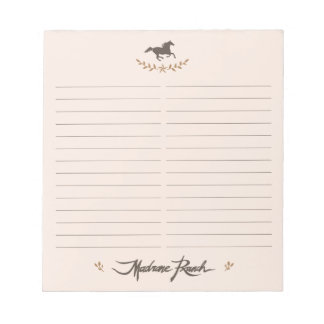Madrone Ranch Notepad 2
