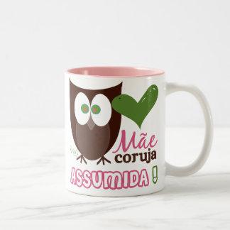 Mãe Coruja Assumida Two-Tone Mug