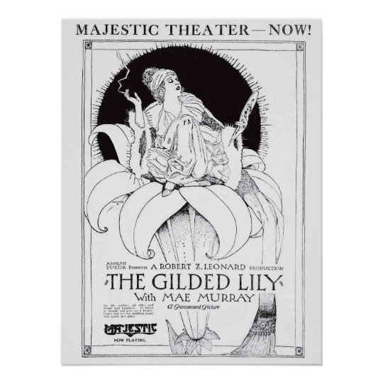 Mae Murray 1921 vintage movie ad poster