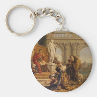Maecenas Presenting the Liberal Arts to Emperor Basic Round Button Key Ring