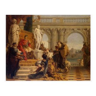 Maecenas Presenting the Liberal Arts to Emperor Postcard