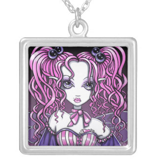 """""""Maegan"""" Pink couture fairy necklace"""