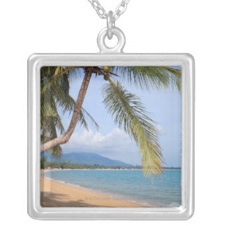 Maenam beach. silver plated necklace