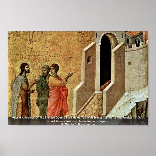 Maestà Altarpiece Of The Sienese Duomo Poster
