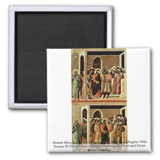 Maestà Altarpiece Of The Sienese Duomo Rear Main Refrigerator Magnet