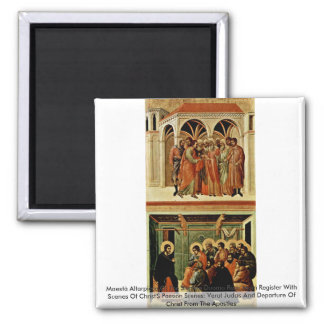 Maestà Altarpiece Of The Sienese Duomo Rear Main Refrigerator Magnet