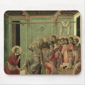 Maesta: Christ Washing the Disciples' Feet Mouse Pad