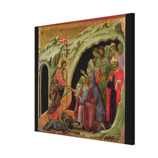 Maesta: Descent into Limbo, 1308-11 Canvas Print