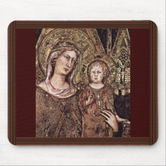 Maestà Madonna Enthroned As The Patron Saint Mouse Pad