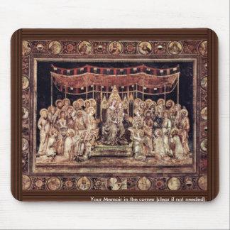 Maestà Madonna Enthroned As The Patron Saint Surro Mouse Pad