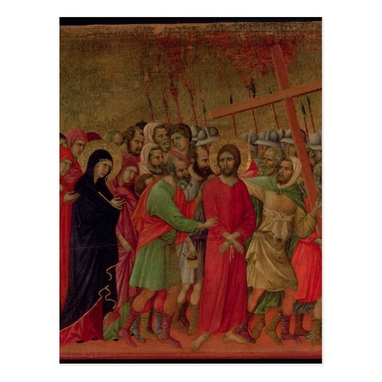 Maesta: The Road to Calvary, 1308-11 Postcard
