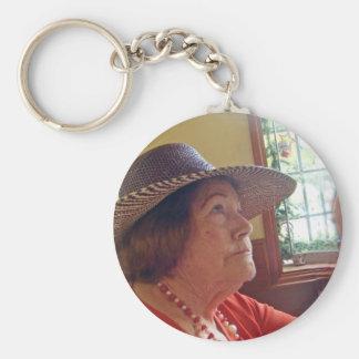 Maestra de Baile Basic Round Button Key Ring
