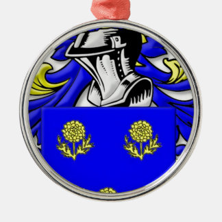Maestre Coat of Arms Silver-Colored Round Decoration