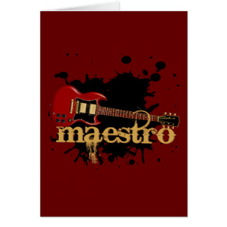 Maestro Grunge Electric Guitar Greeting Cards