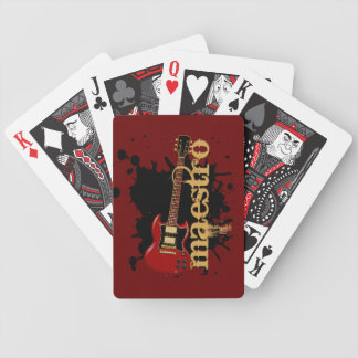 Maestro Grunge Electric Guitar Bicycle Poker Cards