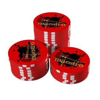 Maestro Grunge Electric Guitar Poker Chip Set