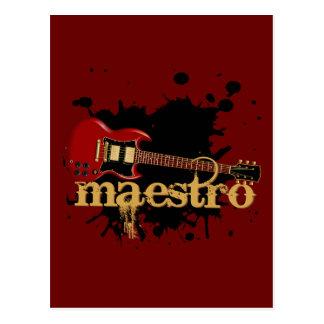 Maestro Grunge Electric Guitar Postcards