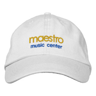maestro, music center cap embroidered hat