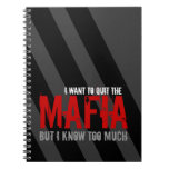 Mafia and Facebook Addicts Parody Joke Satire Spiral Note Books