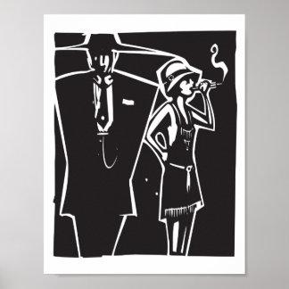 Mafia Boss and Moll Poster