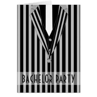 Mafia Suit Bachelor Party Invitation