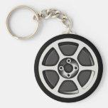 Mag Car Wheel Keychain