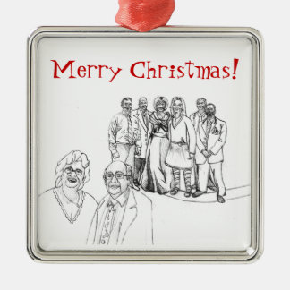 Mag Family Portrait Christmas Ornament
