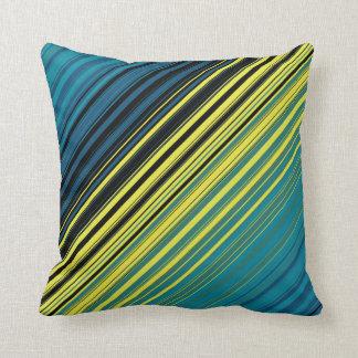 Mag Green Multi Diagonal Stripes Cushion