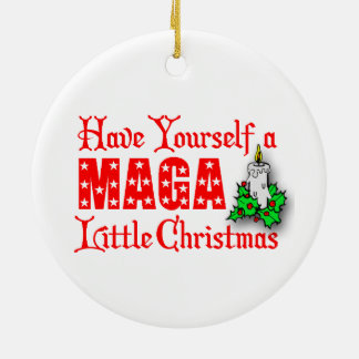 MAGA Little Christmas Donald Trump Tree Ornament