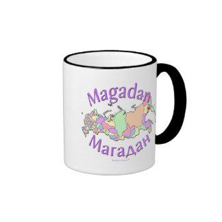 Magadan Russia Map Ringer Coffee Mug