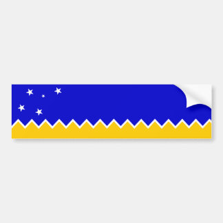 Magallanes Patagonia/Patagonian Flag. Chile Bumper Sticker