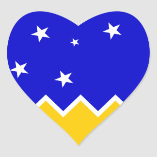 Magallanes Patagonia/Patagonian Flag. Chile Heart Sticker