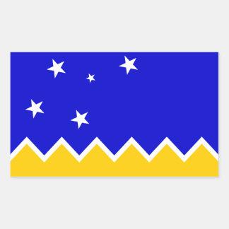 Magallanes Patagonia/Patagonian Flag. Chile Rectangular Sticker
