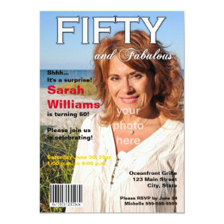 Magazine Cover 50th Birthday Party Invitation