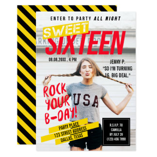 Magazine Cover Look | Sweet Sixteen Party 13 Cm X 18 Cm Invitation Card