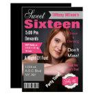 Magazine Cover Photo Sweet Sixteen Invitation