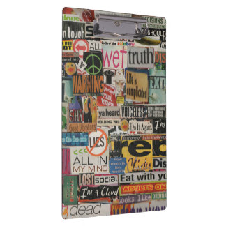 magazine cutouts word cloud textual art collage clipboards