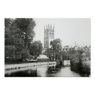 Magdalen College from the Cherwell Poster