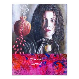 MAGDALEN gem red 11 Cm X 14 Cm Invitation Card