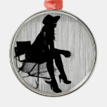 Magdalen in Black Christmas Tree Ornament
