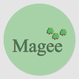 Magee Family Round Sticker