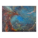 Magellanic Cloud Nebula Space Art Paintin Post Card