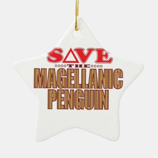 Magellanic Penguin Save Christmas Ornament
