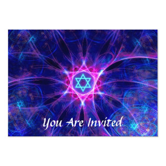 Magen Bet Bar/Bat Mitzvah 13 Cm X 18 Cm Invitation Card