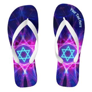 Magen Bet Fractal Flip Flops
