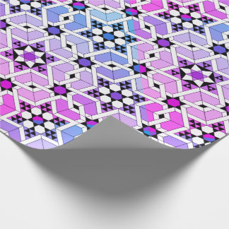 Magen David Stained Glass Wrapping Paper